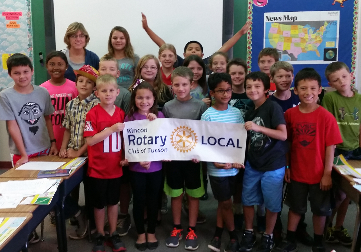 Rincon Rotary Delivers Movie Making Equipment to Tanque Verde Elementary
