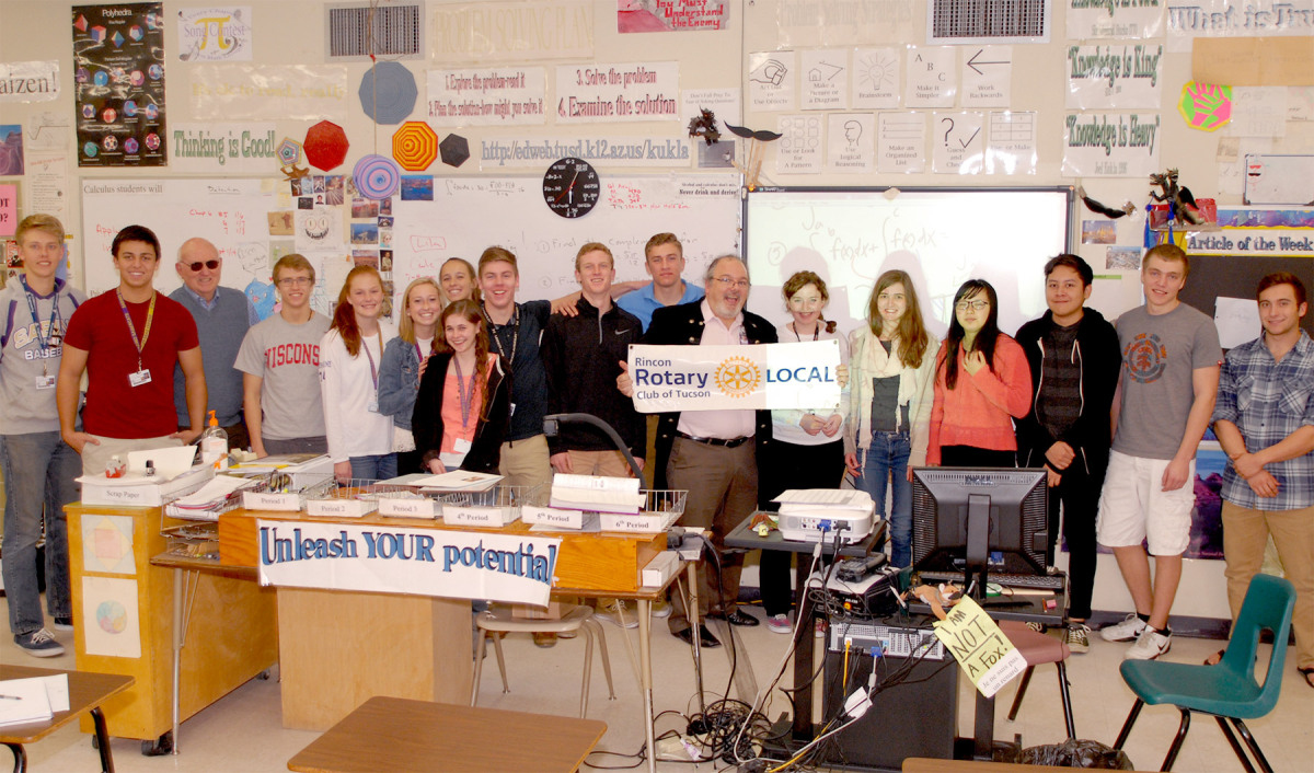 Sabino High School puts math classes online with help from the Rincon Rotary.