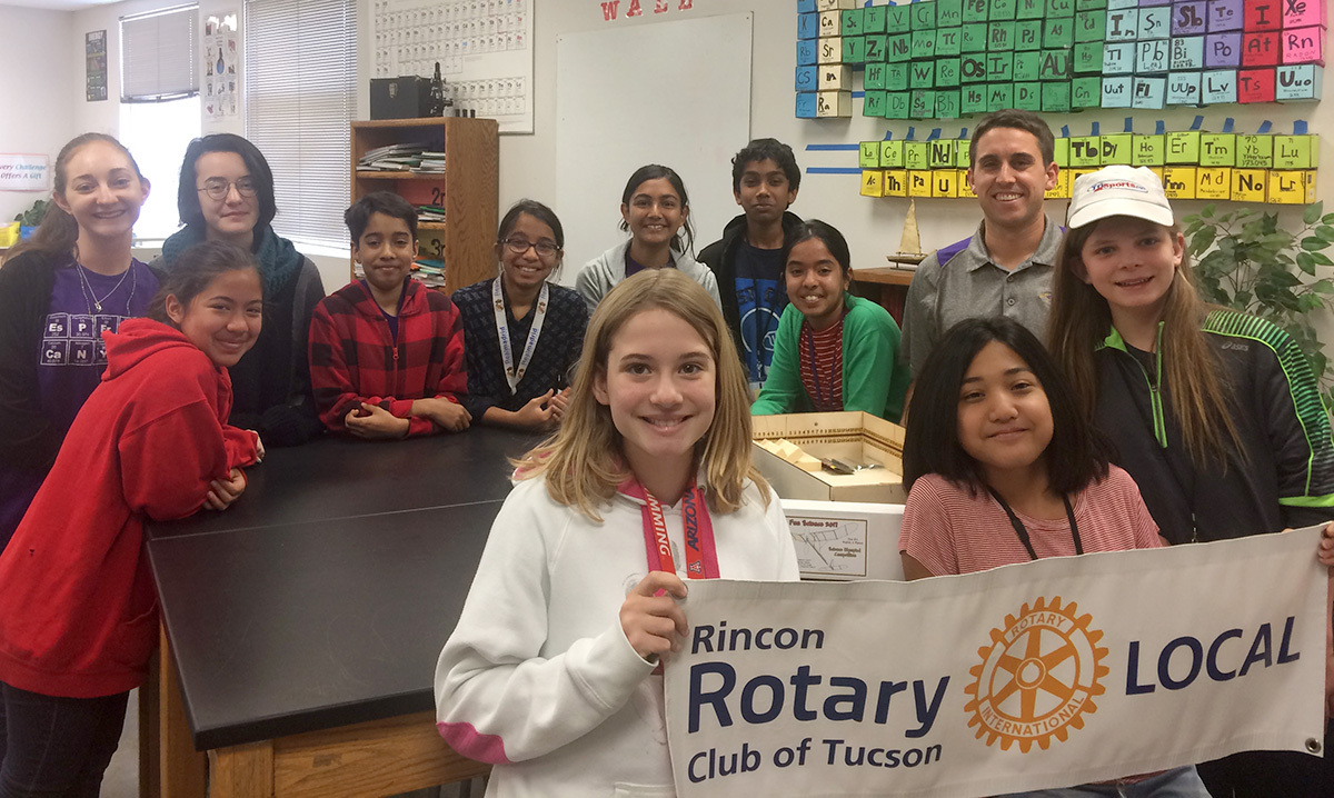 Rincon Rotary goes for the gold with the Esperero Canyon Middle School Science Olympiad team.