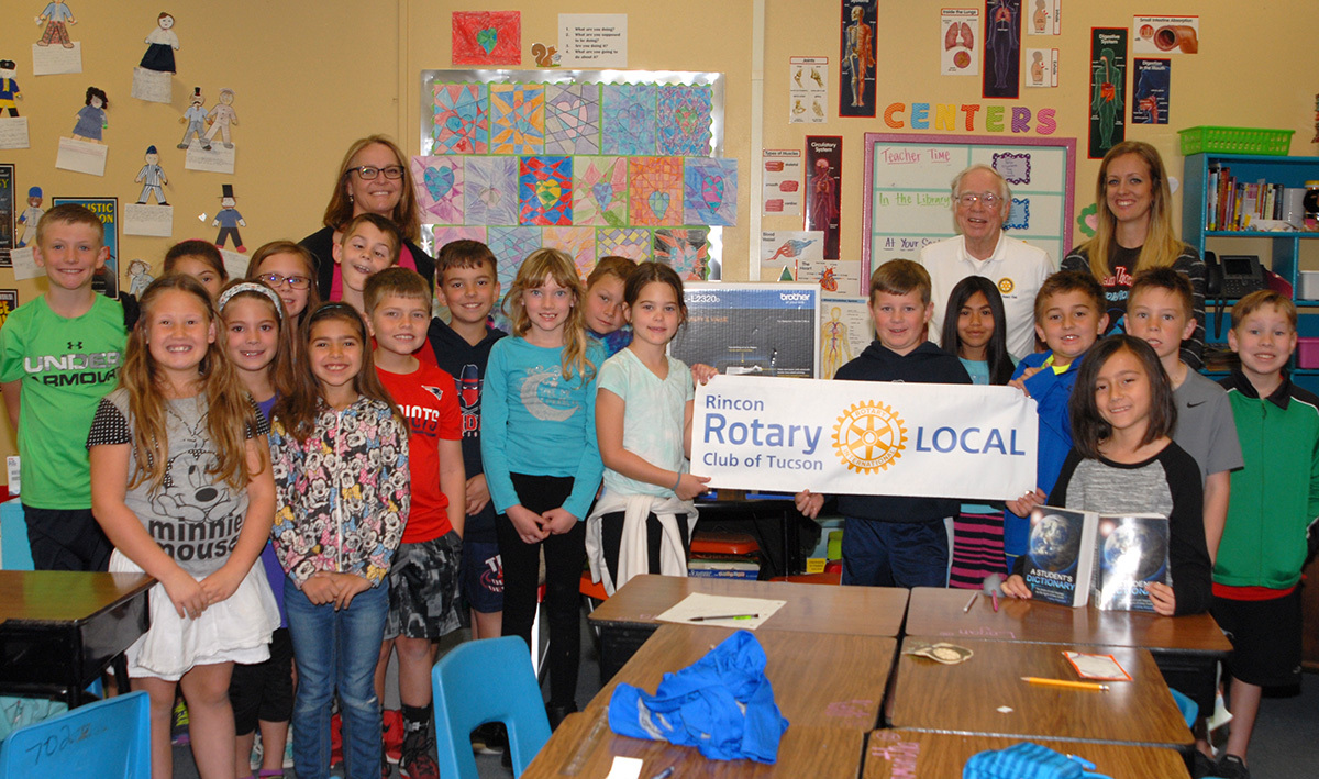 Rincon Rotary helps new Agua Caliente Elementary teacher save time.