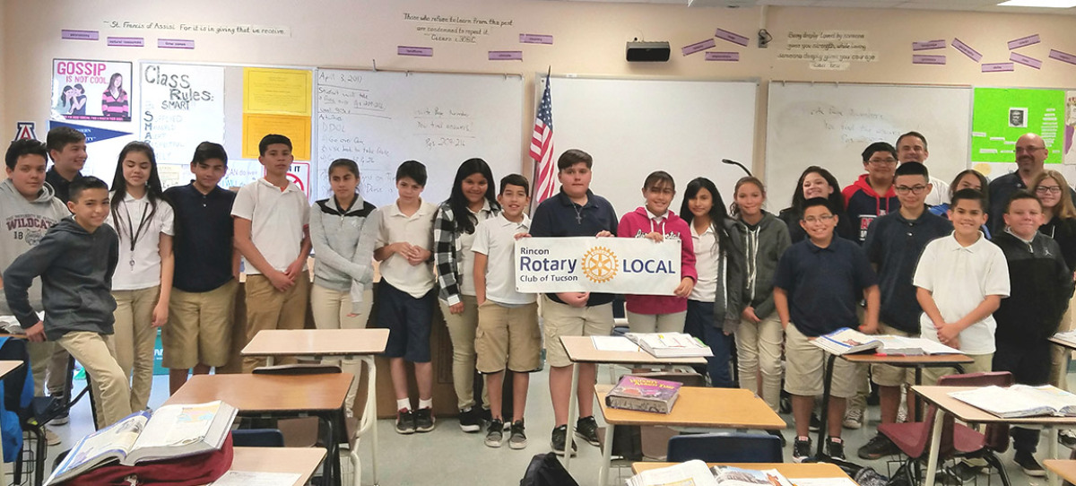 Rotary LOCAL pencils sharpen sixth grade learning experience at Valencia Middle School.