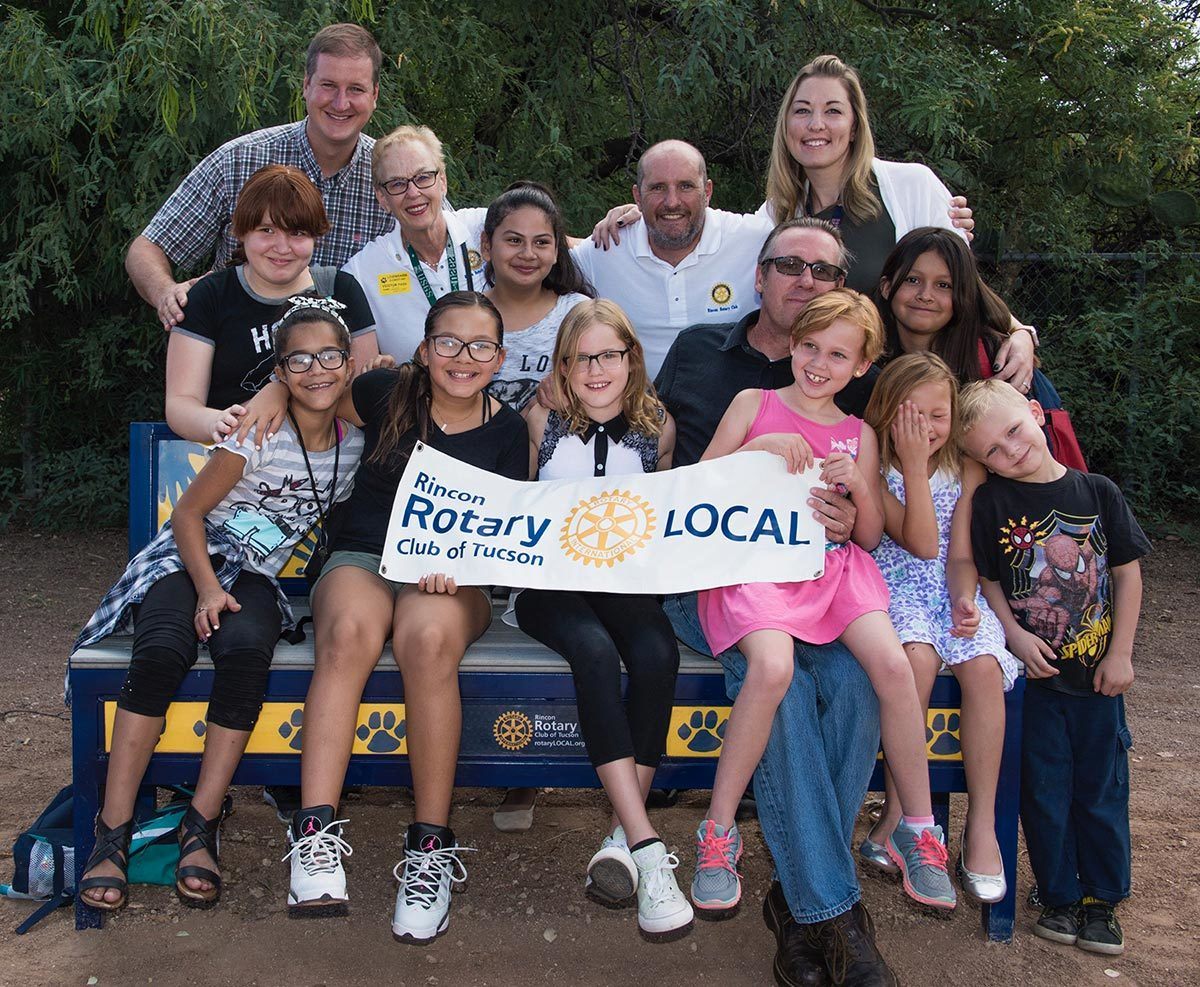 Rotary partners with local artists and students to build good will and better friendship at Lineweaver Elementary