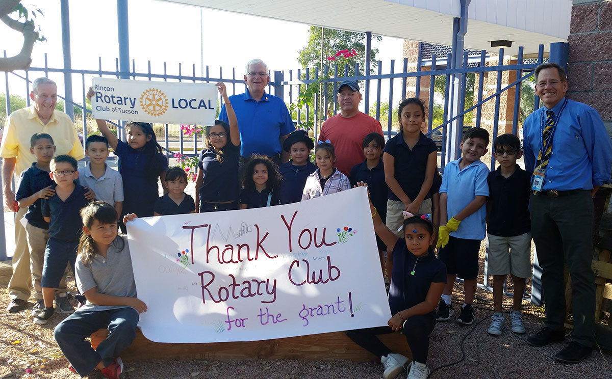 Inch by Inch Row by Row Rincon Rotary Helps it Grow