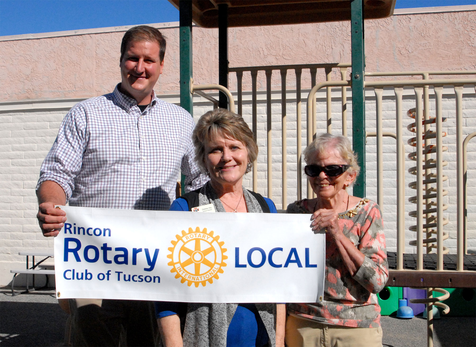 Rincon Rotary helps Tanque Verde Lutheran upgrade their playground through the Rotary Local program.